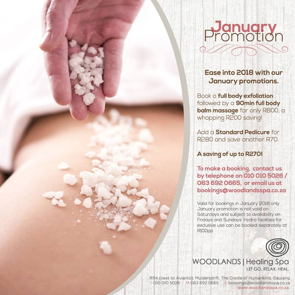 Full Body exfoliation and 90min Full Body Balm R800 (Save R200)